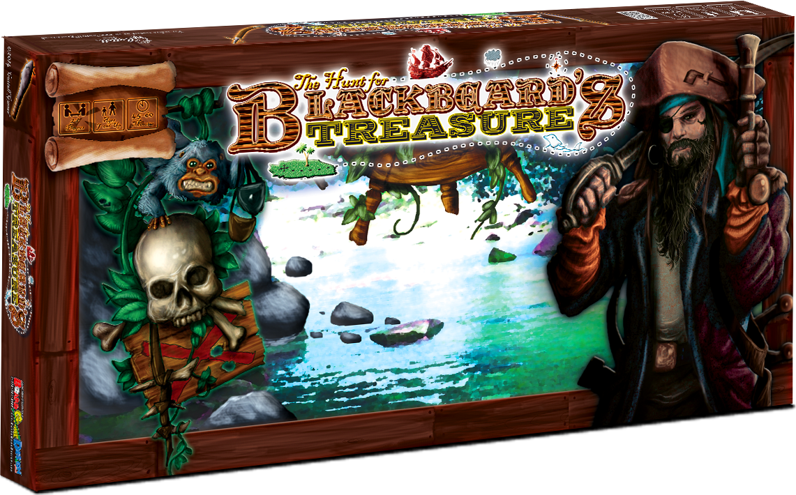Custom Board Game Hunt for Blackbeard's Treasure