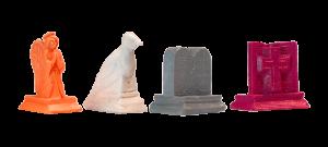 plastic pieces, custom bible-biblical game pieces: angel, dove, ten commandments, bible