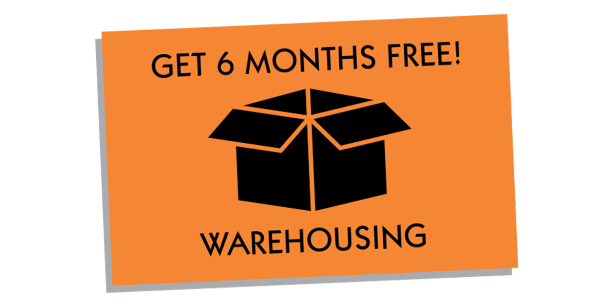 6 Months Free Warehousing